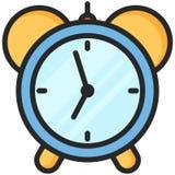 Icono simple del vector de un despertador clásico en estilo plano Pixel perfecto Elemento de la educación básica Fotos de archivo libres de regalías