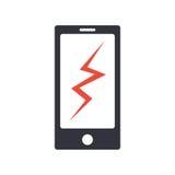 Icono simple roto teléfono del vector libre illustration