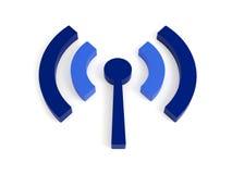 Icono (sin hilos) aislado de los wi fi Imagen de archivo