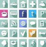 Icono social Imagenes de archivo