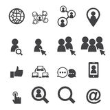 Icono social de la red Imágenes de archivo libres de regalías