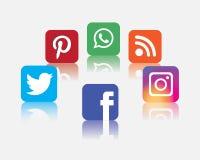 Icono social de la red Imagenes de archivo