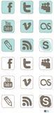 Icono social de los media Imagenes de archivo