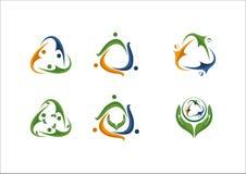 Icono social del logotipo del socio del equipo de la gente de la red Imágenes de archivo libres de regalías