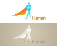 Icono social humano de Origami Foto de archivo libre de regalías