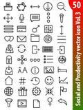 Icono social Vol3 del vector Fotos de archivo
