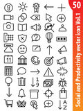 Icono social Vol1 del vector Imagenes de archivo