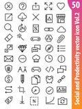 Icono social Vol2 del vector Fotos de archivo