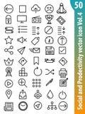 Icono social Vol4 del vector Fotos de archivo libres de regalías