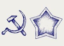 Icono soviético de la estrella Imagen de archivo libre de regalías