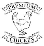 Icono superior del pollo Imagenes de archivo