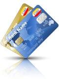 Icono tarjetas de dos de un crédito Foto de archivo libre de regalías