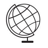 Icono terrestre del globo en el fondo blanco Fotografía de archivo libre de regalías