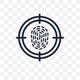 Icono transparente de la biométrica Diseño del símbolo de la biométrica de Artif ilustración del vector