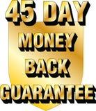 icono treinta de la confianza del comercio electrónico del blog del sitio web del escudo de 45 días de garantía de devolución de  imagen de archivo libre de regalías