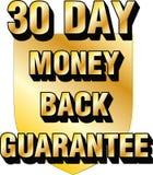30 - icono treinta de la confianza del comercio electrónico del blog del sitio web del escudo de los días de garantía de devoluci foto de archivo libre de regalías