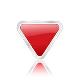 Icono triangular rojo Imágenes de archivo libres de regalías