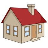 Icono tridimensional de la casa de la historieta ilustración del vector
