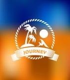 Icono tropical de las vacaciones de verano Fotografía de archivo libre de regalías