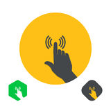 Icono un finger de la mano Imágenes de archivo libres de regalías