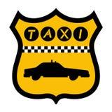 Icono urbano del taxi Imagen de archivo