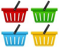 Colección de la cesta de compras Fotografía de archivo libre de regalías