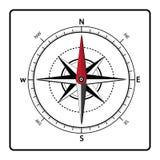 Icono-vector del compás stock de ilustración