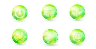 Icono verde Ilustración del Vector