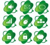 Icono verde Foto de archivo libre de regalías