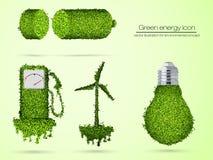 Icono verde de la energía Foto de archivo libre de regalías