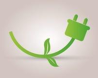 Icono verde de la energía Fotografía de archivo libre de regalías