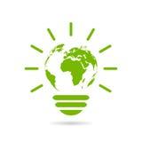 Icono verde de la energía ilustración del vector