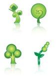 Icono verde de la insignia Imagenes de archivo