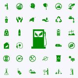 icono verde de la máquina de rellenar de la gasolina sistema universal de los iconos de Greenpeace para el web y el móvil stock de ilustración