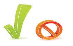 Icono verde de la señal y del bloque Imagen de archivo