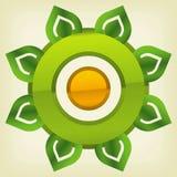 Icono verde de la tecnología Fotografía de archivo libre de regalías