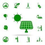 icono verde de los paneles solares sistema universal de los iconos de Greenpeace para el web y el móvil libre illustration