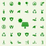 icono verde de los paneles solares sistema universal de los iconos de Greenpeace para el web y el móvil ilustración del vector