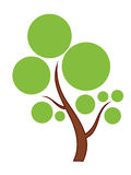 Icono verde del árbol Imagen de archivo libre de regalías