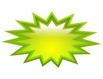 Icono verde del chapoteo Imagen de archivo