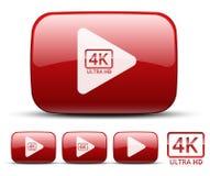 Icono video Imagen de archivo libre de regalías