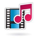 Icono video audio del fichero de media Imágenes de archivo libres de regalías