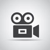 Icono video con la sombra en un fondo gris Ilustración del vector ilustración del vector