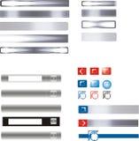 Icono y botones del Internet Fotografía de archivo