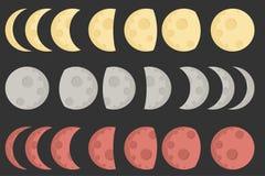 Icono y ejemplo de la luna Fotografía de archivo libre de regalías