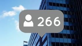 Icono y números del perfil libre illustration