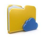 Icono y nube de la carpeta Foto de archivo