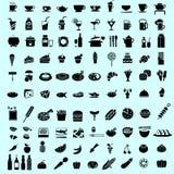Icono y pictograma negros de la comida Fotografía de archivo libre de regalías