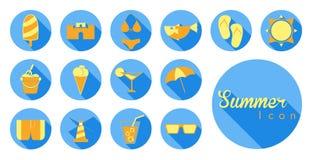 Icono y símbolo del verano ilustración del vector