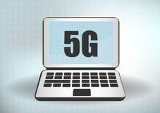 icono y smartphone de la red 5G nueva conexi?n inal?mbrica del wifi de Internet 5G Quinta generación innovadora de la velocidad g stock de ilustración